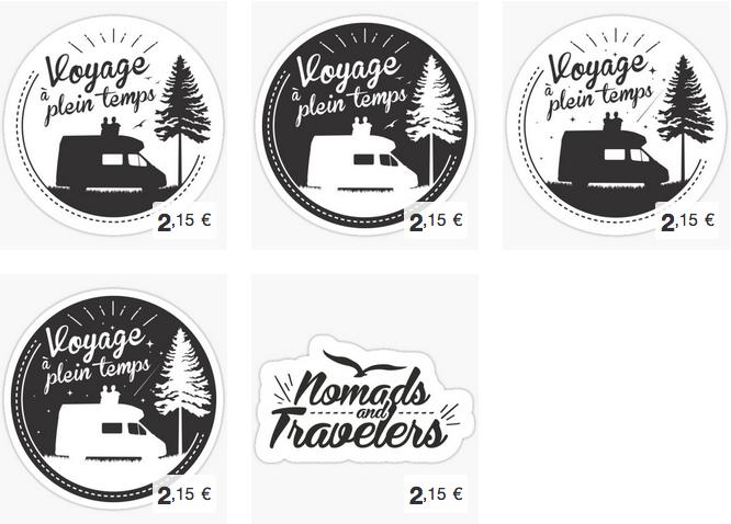 Sticker-autocollants-voyage-a-plein-temps